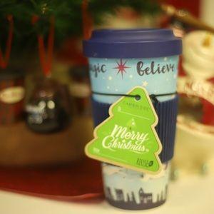 Other - Reusable Santa Unicorn mug- believe in Magic NWT